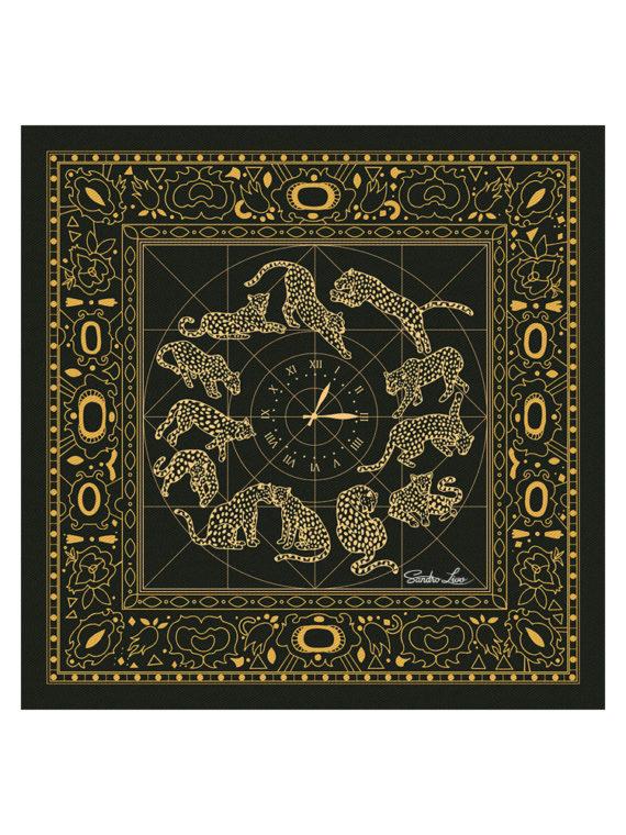 00-leoparzi-90x90cm-gold копия